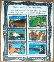Famous Australian Explorers 1976