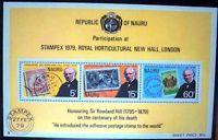 Nauru Sir Rowland Hill 1979 Stampex