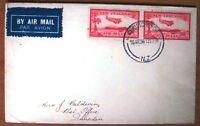 New Zealand Airmail 1D Stamp Union Airways First Flight 1936