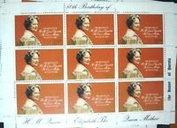 Samoa Sisifo 80th Birthday of Queen Mother 1980 Red