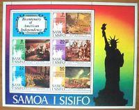 Samoa Sisifo Bicentenary American Independence 1970