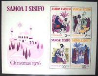 Samoa Sisifo Christmas 1976 Miniature Stamp Sheet