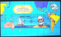 William Willis Samoa 1974 Miniature Stamp Sheet MUH